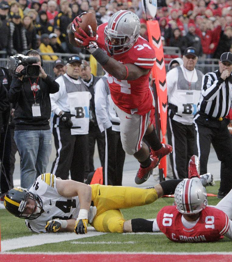 Buckeyes' Carlos Hyde makes up for 3 lost games