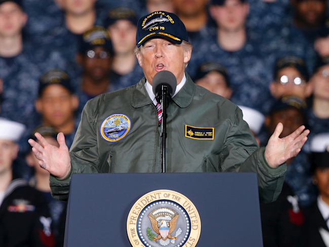 Trump to Time: Navy Should Go Back to 'Goddamn Steam'