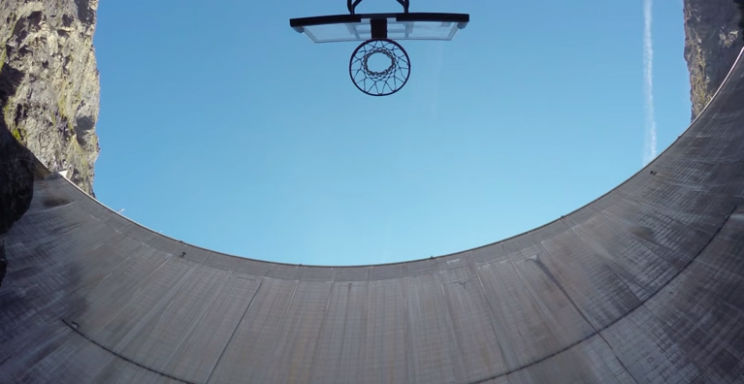 Image result for This 594-Foot-High Basketball Shot 'For Mankind' Is Out Of This World