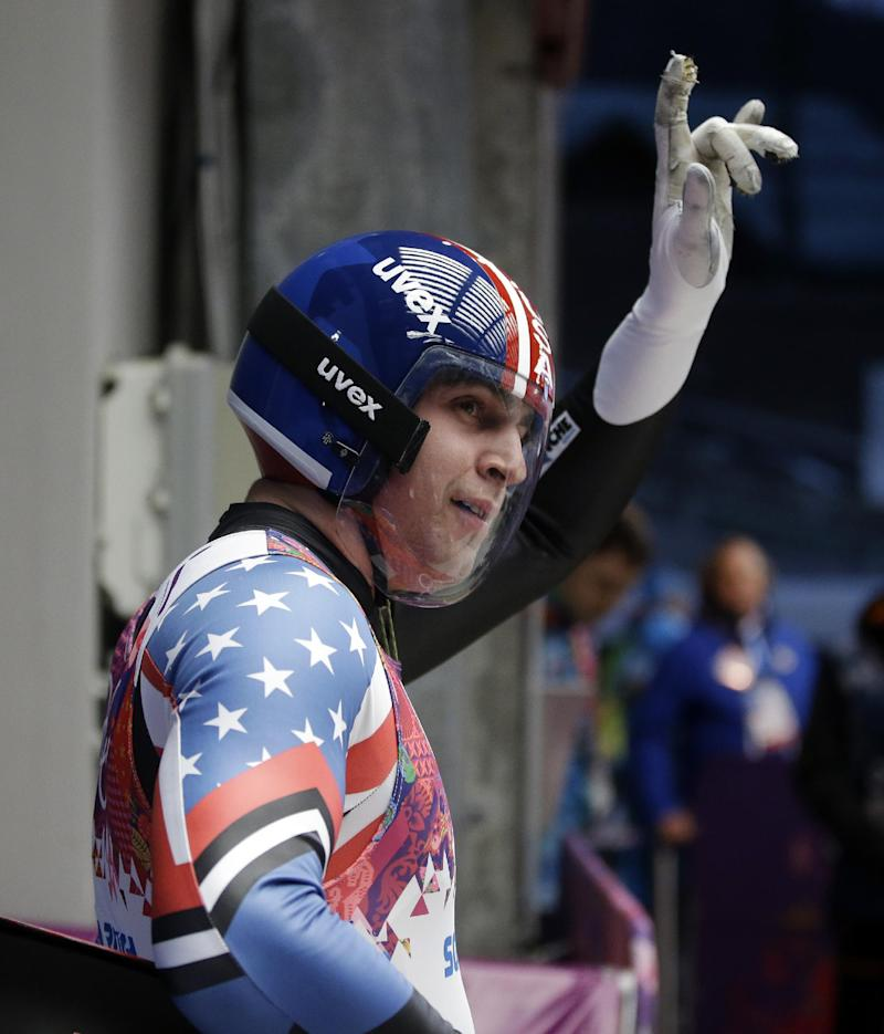 Germany's Loch leads after 2 runs of Olympic luge
