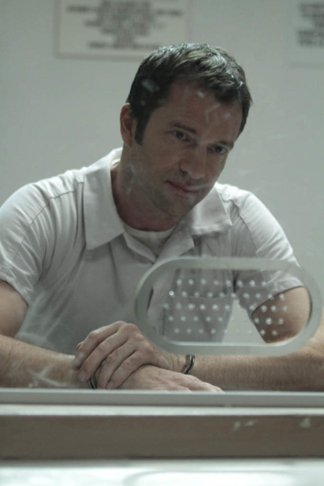 """In a flashback episode, Joe Carroll (James Purefoy) meets with one of his followers in the """"Love Hurts"""" episode of """"The Following."""""""