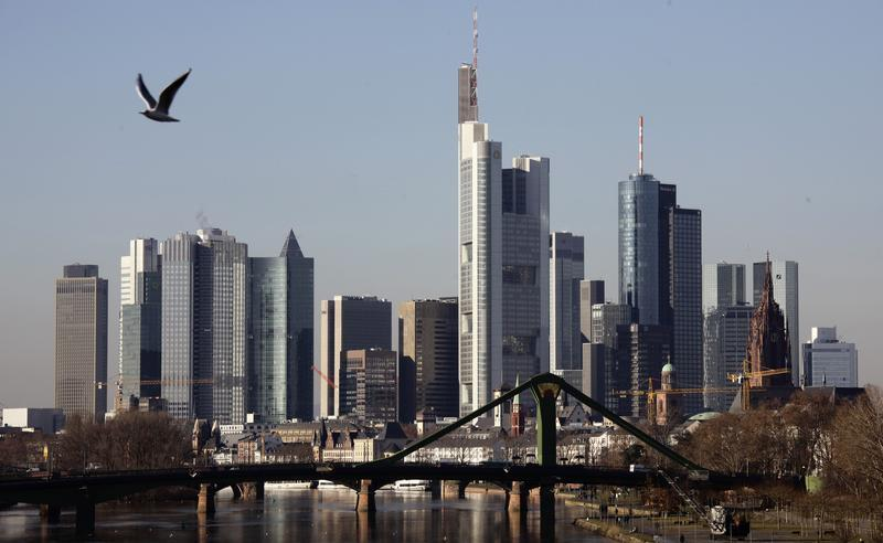 General view of Frankfurt skyline