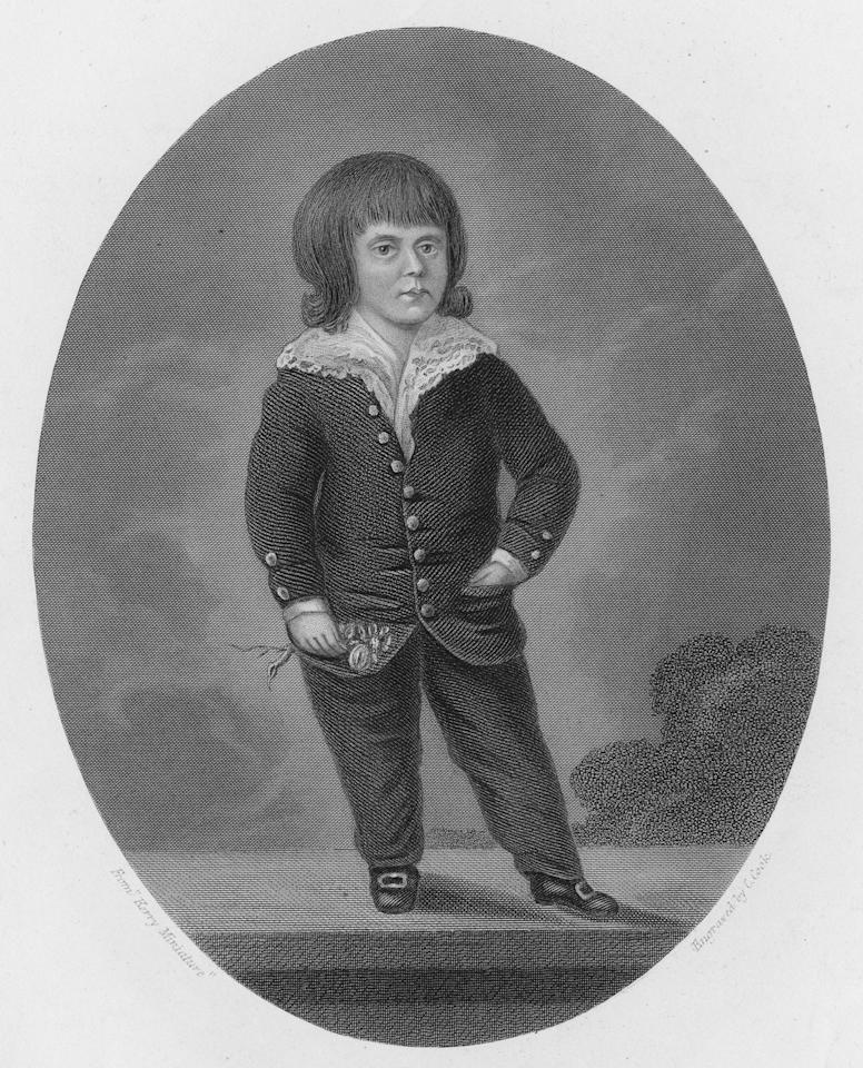 Robert Burns, the eldest son of Scottish poet Robert Burns and Jean Armour, 1795. He was born on 3rd September 1786. Engraving by C. Cook from a 'Kerry Miniature'. (Photo by Kean Collection/Getty Images)
