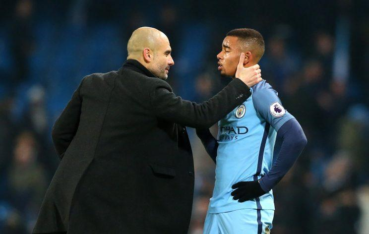 Image result for gabriel jesus pep guardiola