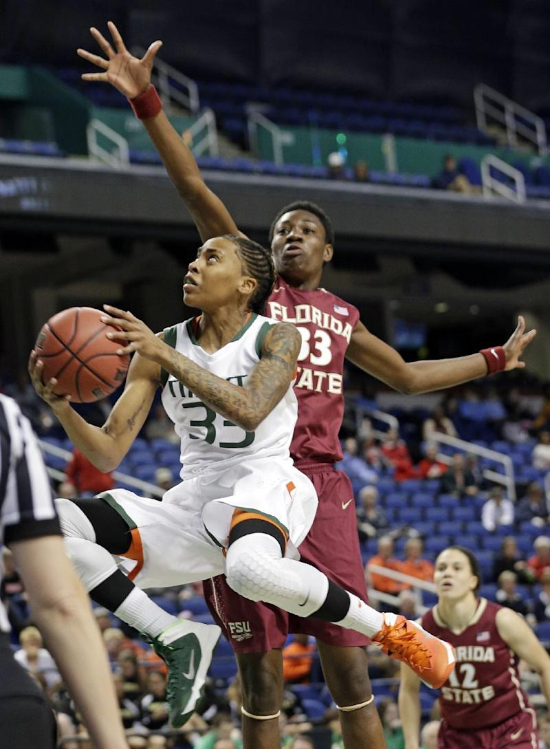 Florida State beats Miami 72-67 in OT in ACC