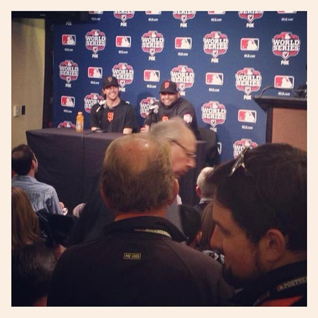 Panda and Zito are all smiles while they meet with the media (via @KevinKaduk)