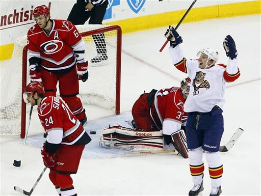 3rd-period surge leads Panthers past 'Canes 4-1