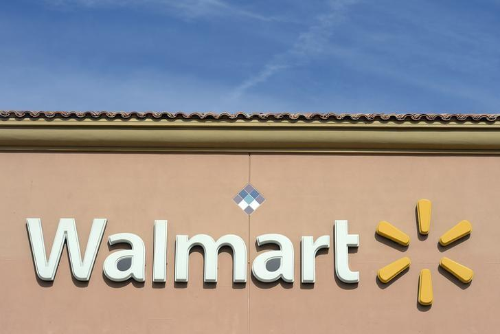 The Walmart logo is pictured in Los Angeles