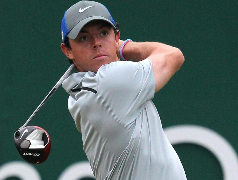 Northern Ireland's Rory McIlroy watches a tee shot during the British Open at Royal Liverpool in Hoylake, northwest England, on July 19, 2014