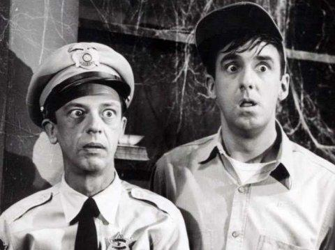 Don Knotts Jim Nabors Andy Griffith Show 1964 surprised shocked
