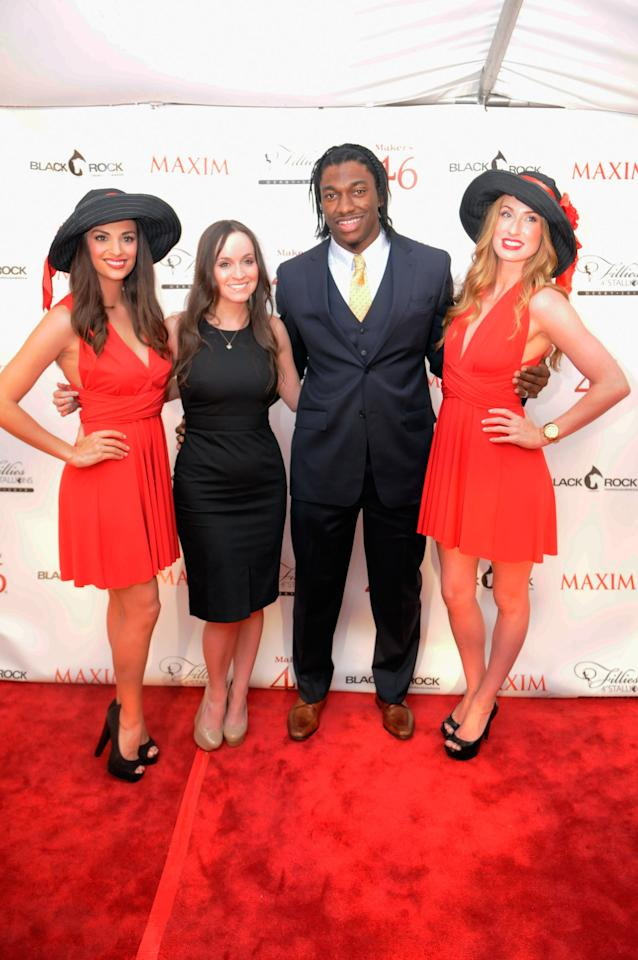 LOUISVILLE, KY - MAY 03:  Robert Griffin III attends the Maxim And Maker's 46 Fillies & Stallions Hosted By Blackrock at Mellwood Arts & Entertainment Center on May 3, 2013 in Louisville, Kentucky.  (Photo by Stephen Cohen/Getty Images for Maxim)