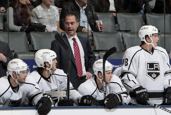 Interim Head Coach John Stevens Of The Los Angeles Kings Yells Getty Images