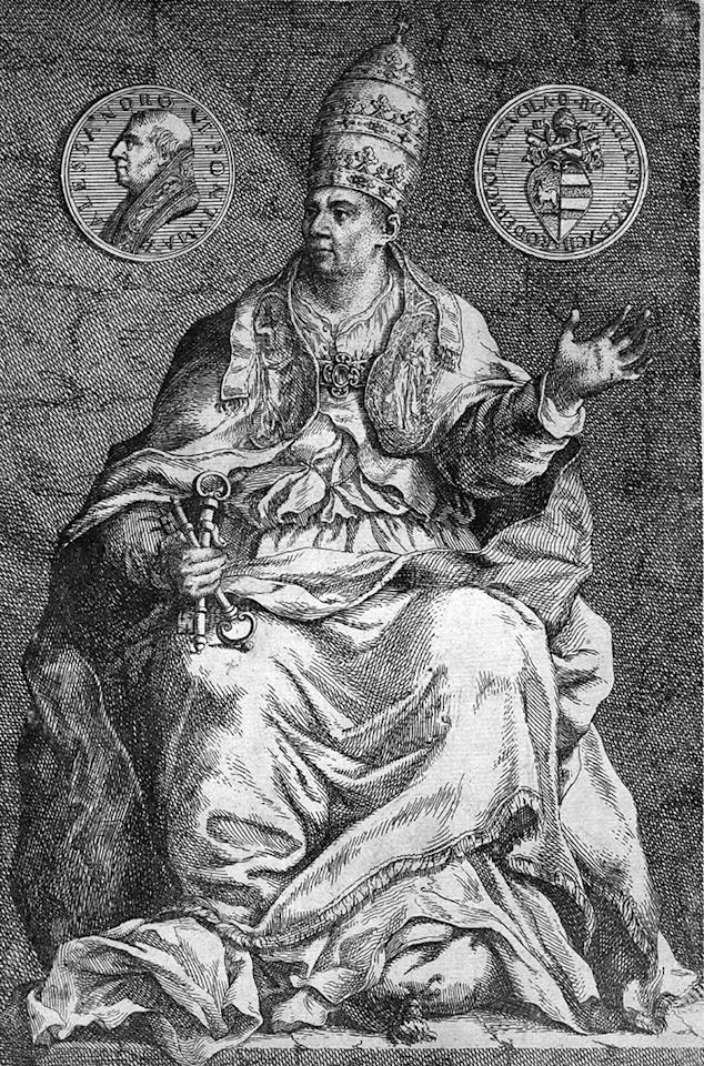 Circa 1485, Pope Alexander VI (1431 - 1503). He is holding symbols of office. (Photo by Hulton Archive/Getty Images)