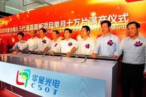 The 8.5G LCD Panel Project of CSOT Reaches Full Capacity Earlier Than Scheduled With 108,000 Sheets per Month