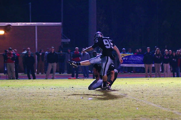 Miles Hemphill hit a 61-yard field goal in a playoff game ... but lacks any scholarship offers — East Paulding football