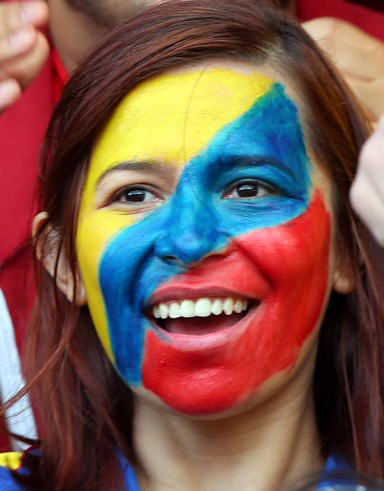 GLASGOW, SCOTLAND - JULY 28:  A Columbian fan during the Women's Football first round Group G match between United States and Colombia on Day 1 of the London 2012 Olympic Games at Hampden Park on July 28, 2012 in Glasgow, Scotland.  (Photo by Stanley Chou/Getty Images)