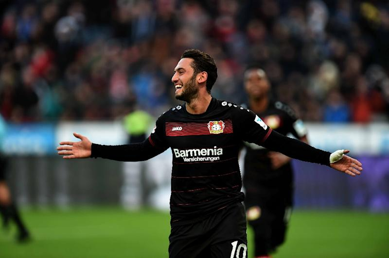 Leverkusen's Calhanoglu suspended for four months