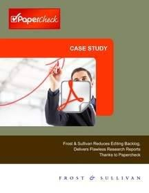 Frost & Sullivan Reduces Editing Backlog, Delivers Flawless Research Reports Thanks to Papercheck