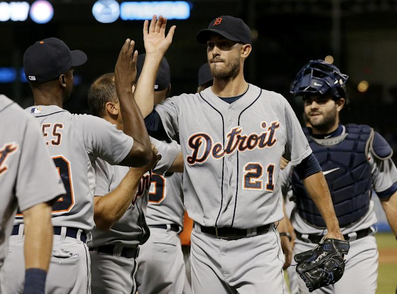 Porcello throws 3-hitter, Tigers blank Rangers 6-0