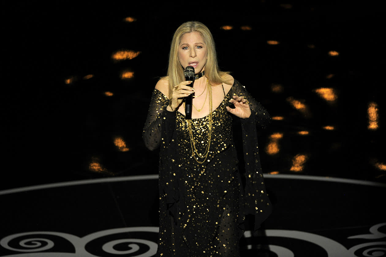 "<b>20. Barbra Streisand - $10,611,419.16</b><br><br>Barbra Streisand performs ""The Way We Were"" for the In Memoriam tribute during the Oscars at the Dolby Theatre in Los Angeles."