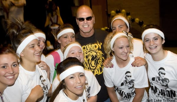 Legendary NFL quarterback Jim McMahon at Roy High in Utah