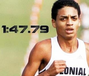 Andres Arroyo's record time at the Florida Relays — Facebook/FloTrack