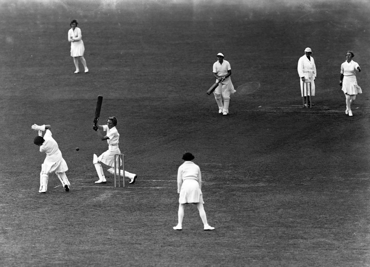 [ICCWWC2013] circa 1937:  England versus Australia during the Women's Test match.  (Photo by Central Press/Getty Images)