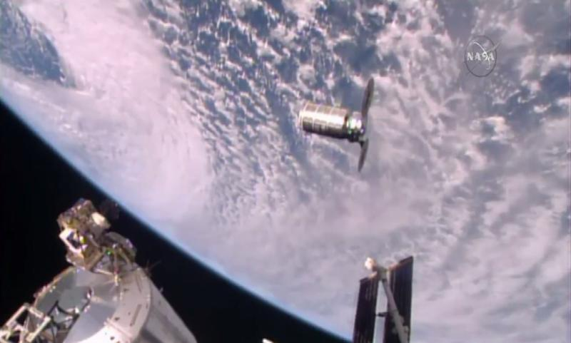 Cygnus Attached to Station's Unity Module