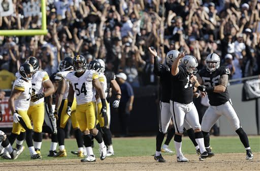 Raiders rally past Steelers 34-31