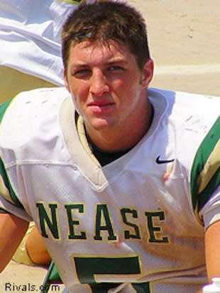 A young Tim Tebow during his junior season at Nease — Rivals.com