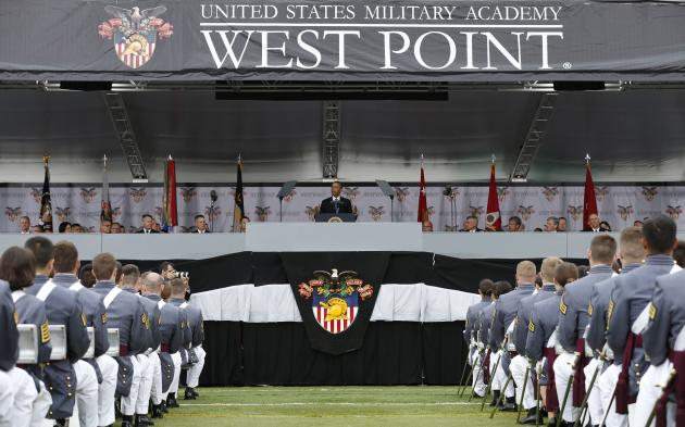 Obama speaks at the commencement ceremony at the United States Military Academy at West Point (REUTERS/Kevin Lamarque)