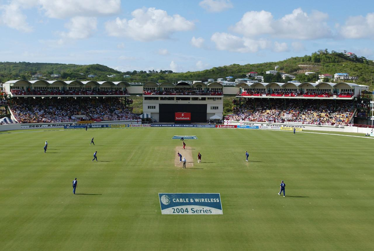 CASTRIES, SAINT LUCIA - MAY 2:  A general view during the 6th One Day International at the Beausejour cricket ground, on May 2, 2004, in Castries, St.Lucia. (Photo by Clive Rose/Getty Images)