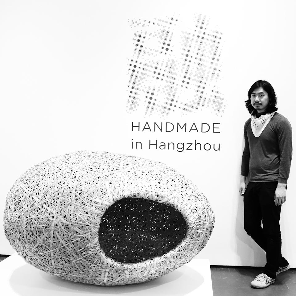 MILAN, ITALY - APRIL 08:  (EDITORS NOTE: This image was processed using digital filters) Designer Zhang Lei poses at La Triennale di Milano on April 8, 2013 in Milan, Italy.  (Photo by Vittorio Zunino Celotto/Getty Images)