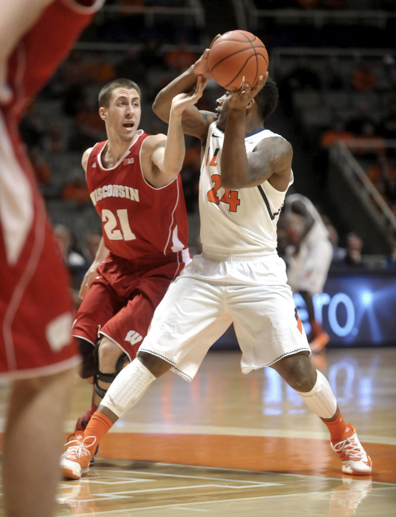Wisconsin end skid with 75-63 win over Illinois