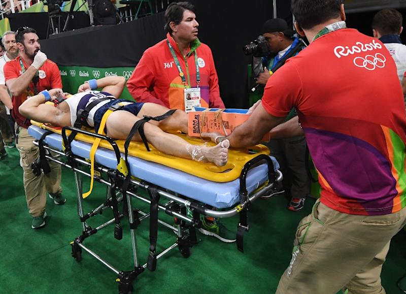 French Olympic gymnast suffers horrific leg break
