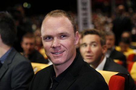 Rider Chris Froome of Britain attends the presentation of the itinerary of the 2017 Tour de France cycling race during a news conference in Paris, France, October 18, 2016.  REUTERS/Benoit Tessier
