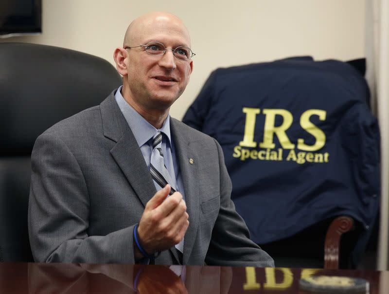 The IRS Criminal Investigative Division Chief Weber speaks inside his office in Washington