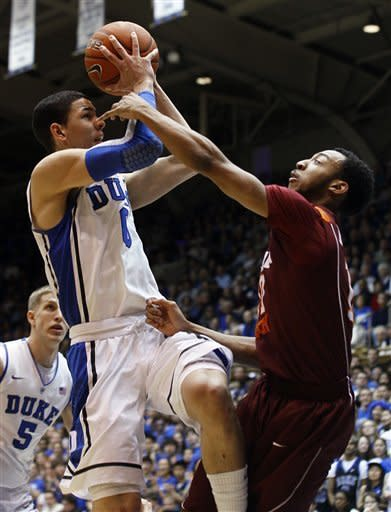 Rivers helps No. 5 Duke beat Va. Tech 70-65 in OT