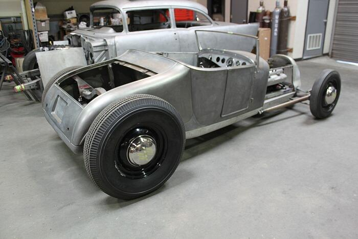 Rear of the 1927 Ford Track T under construction