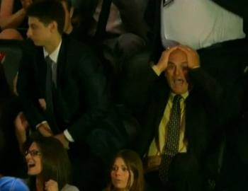 Jack Fucale's reaction, right, to son Zachary getting picked was priceless. [Youtube.com - NHL Network]