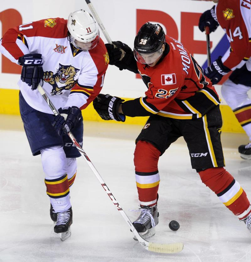 Flames rookie sensation Monahan out with injury