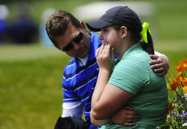 Churchill golfer Caroline Inglis after being disqualified for a scorecard violation — Jesse Skoubo/AP/Corvallis Gazette Times