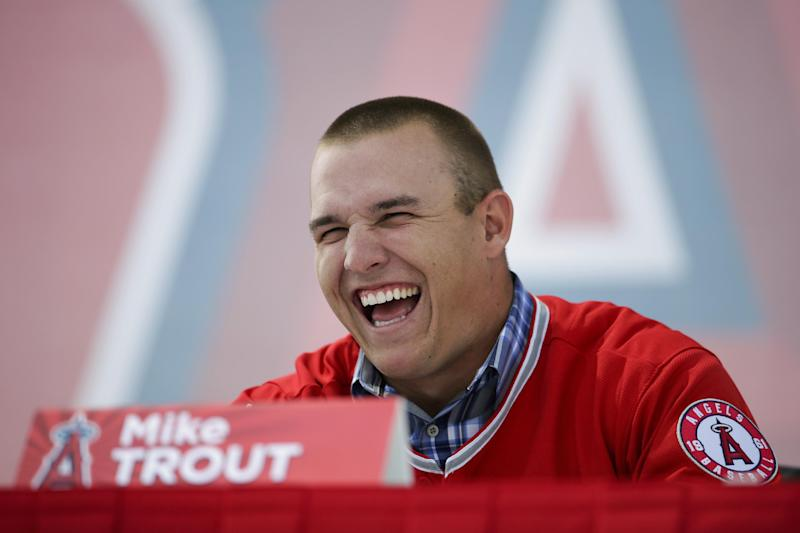 Trout, Angels both thrilled with big new contract