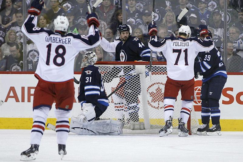 Blue Jackets top Jets 6-3