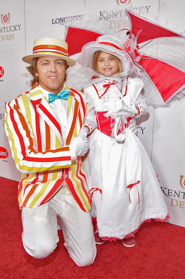 LOUISVILLE, KY - MAY 04:  (L-R) Larry Birkhead and Dannielynn Hope Marshall Birkhead at the GREY GOOSE Red Carpet Lounge at the Kentucky Derby at Churchill Downs on May 4, 2013 in Louisville, Kentucky.  (Photo by Theo Wargo/Getty Images for GREY GOOSE)