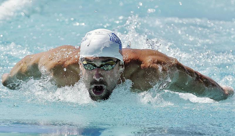 Michael Phelps shares 100 butterfly title