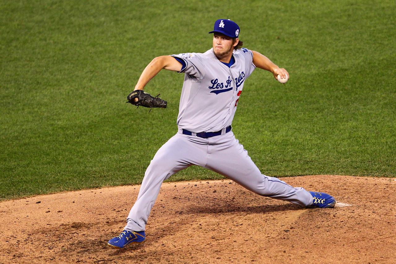 KANSAS CITY, MO - JULY 10:  National League All-Star Clayton Kershaw #22 of the Los Angeles Dodgers pitches in the fifth inning during the 83rd MLB All-Star Game at Kauffman Stadium on July 10, 2012 in Kansas City, Missouri.  (Photo by Dilip Vishwanat/Getty Images)