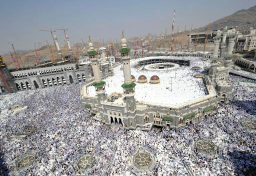 A picture taken on October 11, 2013 shows pilgrims at Mecca's Grand Mosque, as hundreds of thousands of Muslims pour into to the city for the annual hajj pilgrimage