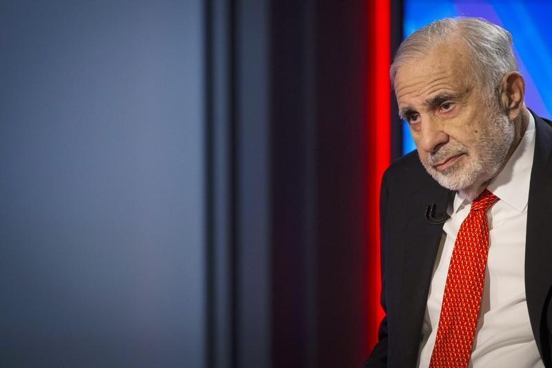 Billionaire activist-investor Carl Icahn gives an interview on FOX Business Network's Neil Cavuto show in New York