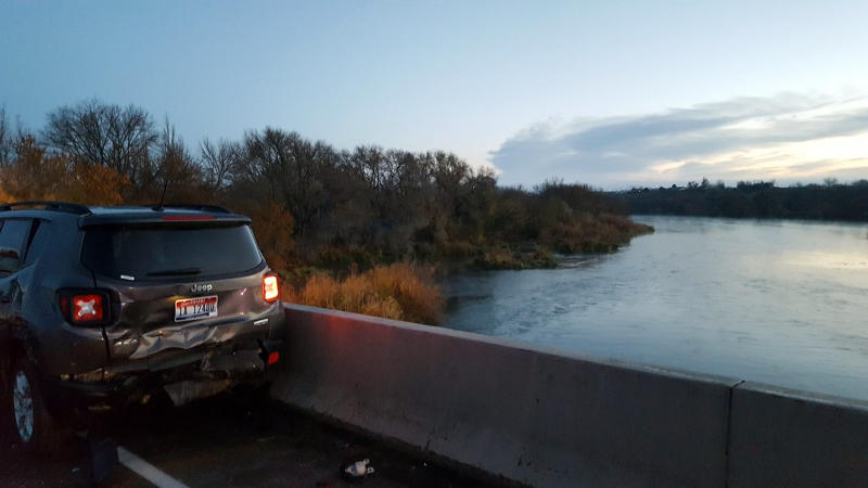 Idaho man hit by car, falls 50 feet into icy river, survives